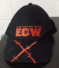ECW Extreme Championship Wrestling Black Hat W/Strap WWE 2006 RARE *LOOK*