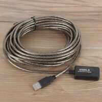 10M USB 2.0 Aktive Extension Repeater Verlängerung Kabel 480 Mbps ❤