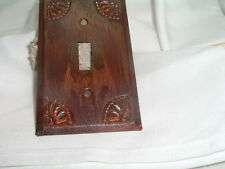 Handcrafted Country Copper Tinware Light Switch Plate w Screws Never Used