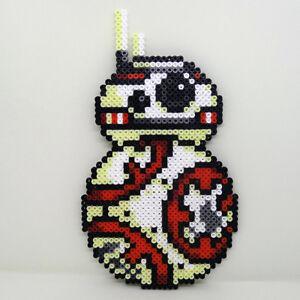 Star Wars BB-8 Droid EXTRA-LARGE handmade Hama beaded coaster wall art sign