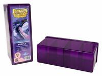 "Card Deck Storage Dragon Shield 4 Compartment Storage Box Purple 8 1/2""x 4""x 3"""