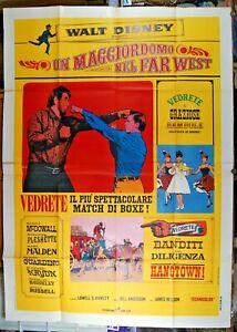 manifesto 4F film ADVENTURES BULLWHIP GRIFFIN UN MAGGIORDOMO NEL FAR WEST Disney