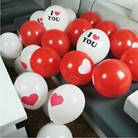 Heart Print Latex Balloons Happy Valentines Day Decor Mothers Day I Love You 15p