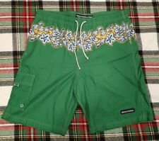 Abercrombie & Fitch Green Floral lei Swim Trunks Mens large
