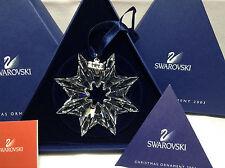 Swarovski Christmas Snowflake Large Ornament 2003 Limited Nib