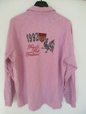 Polo SERGE BLANCO QUINZE FRENCH FLAIR rugby rose 1992 manches longues XXL