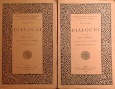 PLATONE DIALOGHI VOL. VII LE LEGGI LATERZA 1921 TRADUZIONE DI ANTONINO CASSARà