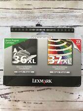 LEXMARK 36XL BLACK & 37XL COLOR
