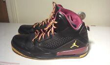 Men's Black, orange and maroon Air Jordan High Top shoes size 13
