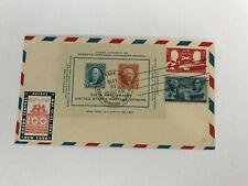 S3 Airmail FDC May 21 1947 NYC Centenary Philatelic  RARE COMBINATION STAMPS