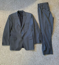 HUGO BOSS Guabello Super 130 Gray Wool 2 Piece Suit W / Dress Pants 42R 34Wx31L