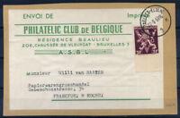 Belgio 1959 Busta 100% Bruxelles-Elsene