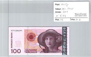 BILLET NORVEGE - 100 kroner 2004 n°5111 - Pick 49