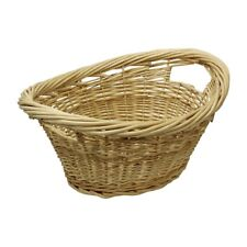 JVL Classic Vintage Willow Wicker All Purpose Clothes Storage Basket