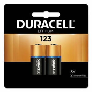 Duracell 123 Lithium Battery 2-Pack, 3 Volt, Model DL123AB2 Fast ship!