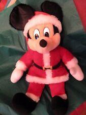Mickey Mouse Santa 1986 Applause Disney Production  Holiday Christmas Vintage