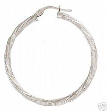9ct White Gold Hoop Earrings    3.4cms   1.4gms  NEW