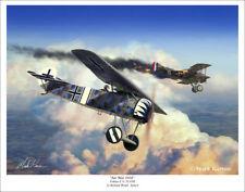 "Fokker E.V WWI Aviation Art Print - 11"" x 14"""