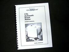 Amazon. Com: westinghouse bread machine maker instruction manual.