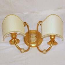 APPLIQUE LAMPADA DA PARETE ART.560 FOGLIA ORO PARALUME VENTOLINA BAROCCO LIBERTY