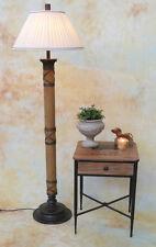 Stehlampe Lampe Stehleuchte Stoffschirm Bambus Asien Asiatika Meditation PQ017-a