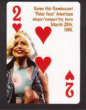 Lady Gaga Pop Music Star Neat Playing Card #6Y8