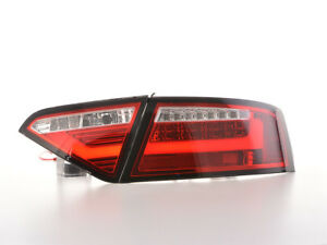 LED lightbar tail rear lights red clear FOR Audi A5 8T Coupe Sportback 07-11