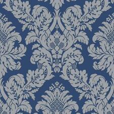 UK10457 - Peartree Glitter Damask Blue Wallpaper