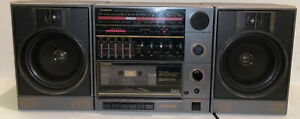 Fisher PH418 Stereo Boombox removable speakers AC/DC AM/FM Radio Tape Deck WORKS