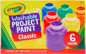 Washable Paint For Kids Toddler Baby Finger Craft Crayola Paints NON TOXIC 6 Pcs