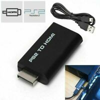 For Sony Playstation 2 PS2 to HDMI Converter Adapter Adaptor Cable HD USB US