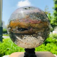 4.2LB Raw Material Natural Marine Jasper Crystal Cave Quartz Crystal Ball ZQ85