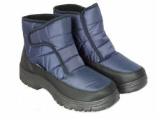 Cushion Walk Men's Thermo-Tex Fleece Lined Warm Snow Boots Non-Slip Soles Blue 7