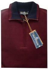 MAGLIA UOMO lana rasata M L XL XXL XXXL maglione collo zip bordo' VELE dei MARI