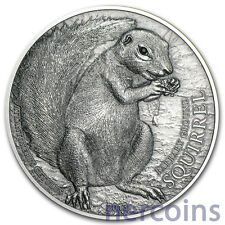 Palau 2013 Squirrels of the World $5 Pure 1Oz Silver Coin with Swarovski Crystal