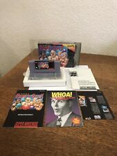 Snes Super Nintendo Super Punch Out Cib Complete W/ Plastic Around It