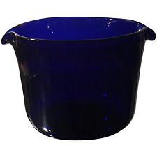 Antique Georgian Blue Cut Glass Wine Rinser
