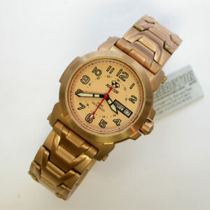 NEW $400 LADIES 35MM ROSE GOLD 200M REACTOR ATOM MID SIZE WATCH - 78626 R