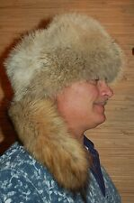 Coyote Fur Hat Mountain Man Biker Outlaw Fur bucket hat FASHION FUR HAT 7 3/4 Xl