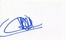 AUTOGRAPHE SUR BRISTOL de Thierry HENRY (index card signed in person)