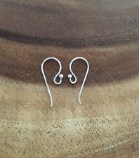 GENUINE REAL 925 SOLID Sterling Silver French Fish Wire Hook Earring Findings