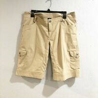 "Kuhl Womens 14 Khaki Tan Cargo Hiking Shorts 14"" Inseam"