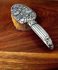 Whiting Mfg. Co. Sterling Silver Hair Brush Chrysanthemum Repoussé Pattern 1742