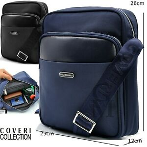 Borsello uomo coveri borsa tracolla pelle nylon nero blu lavoro sport piccolo