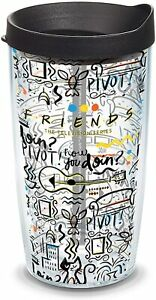 Tervis Warner Brothers Friends Insulated Tumbler with Wrap & Black Lid 16 oz New