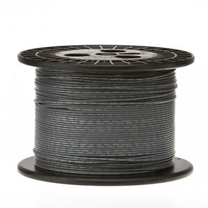 "18 AWG Gauge Stranded Hook Up Wire Gray 500 ft 0.0403"" UL1007 300 Volts"