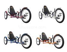 "Mobo TriTon Pro 20"" 3 WHEEL Tricycle RECUMBENT Trike Bike Color Red Orange Blue"