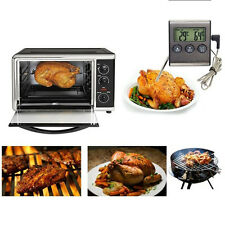 LCD Digital Thermometer Timer Kitchen Oven BBQ Grill Meat Food Cooking Facility