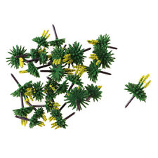 30x Model Trees with Flower Miniature Landscape Scenery Train Railway Yellow
