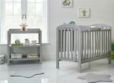 Obaby LILY 2 PIECE NURSERY ROOM SET Cot Bed Changer Warm Grey BN